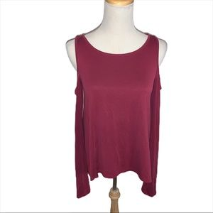 Hollister Cold Shoulder Bell Sleeve Small